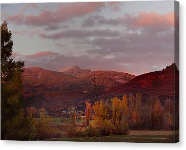 Rocky Peak Autumn Sunset Canvas Print by Daniel Hebard