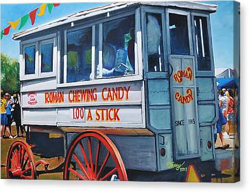 Roman Candy Guy At Jazz Fest Canvas Print