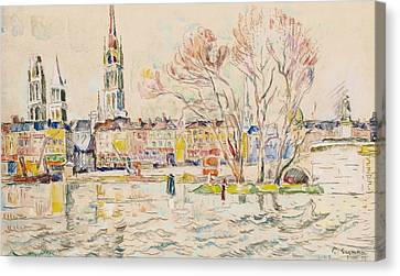 Rouen Canvas Print by Paul Signac