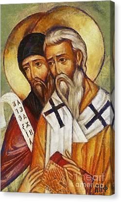 Saints Cyril And Methodius Canvas Print by Dragica  Micki Fortuna