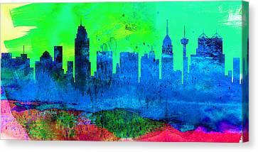 San Antonio City Skyline Canvas Print by Naxart Studio