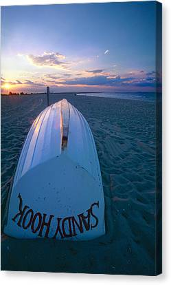 Sandy Hook Beach Sunset Canvas Print by George Oze