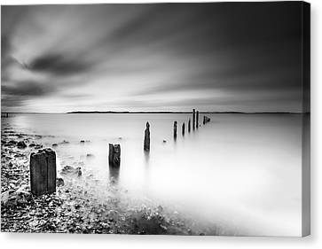 Seasalter In Mono Canvas Print by Ian Hufton