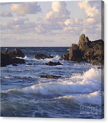 Seascape. Rocks. Normandy. France. Europe Canvas Print by Bernard Jaubert