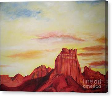Canvas Print featuring the painting  Sedona Az by Eric  Schiabor
