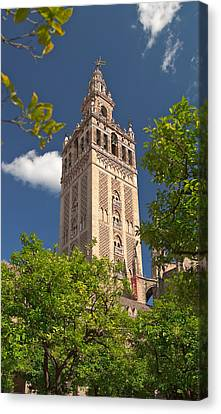 Seville Cathedral Belltower Canvas Print by Viacheslav Savitskiy