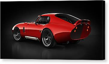 Shelby Daytona - Red Streak Canvas Print by Marc Orphanos