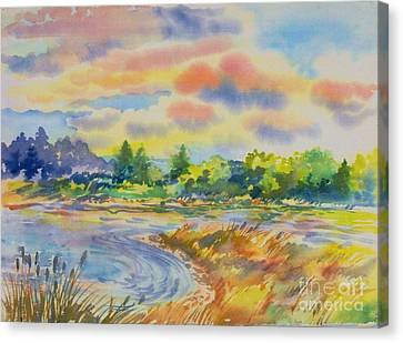 South Platt Water Color Canvas Print by Annie Gibbons