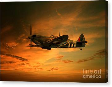 Memorial Canvas Print -  Spitfire Glory by J Biggadike
