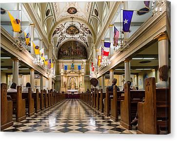 St. Louis Cathedral Canvas Print by Steve Harrington