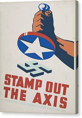Canvas Print featuring the mixed media  Stamp Out The Axis by American Classic Art