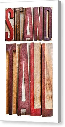 Stand Tall Canvas Print by Donald  Erickson