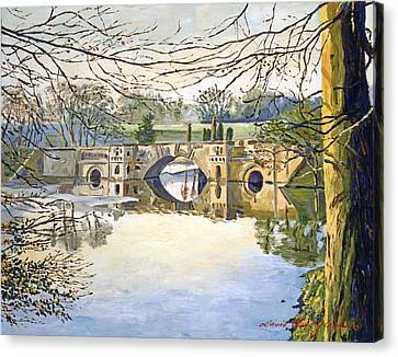 Stone Bridge Canvas Print by David Lloyd Glover