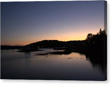 Stonington Sunset Canvas Print by Greg DeBeck