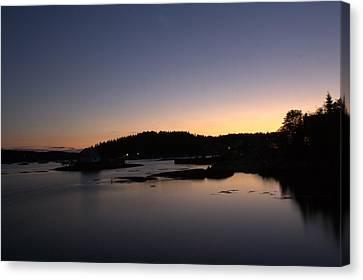Stonington Sunset Canvas Print