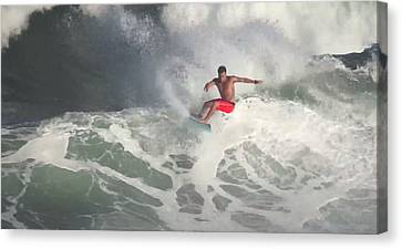 Storm Surfer Canvas Print by Kevin Smith