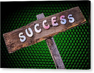 Success Sign Post Canvas Print by Donald  Erickson
