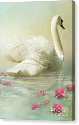 Swan Song Canvas Print by Trudi Simmonds