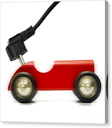 Eco-friendly Canvas Print -  Symbolic Image Electric Car by Bernard Jaubert