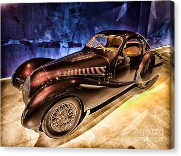 Canvas Print featuring the photograph  Talbot Lago 1937 Car Automobile Hdr Vehicle  by Paul Fearn
