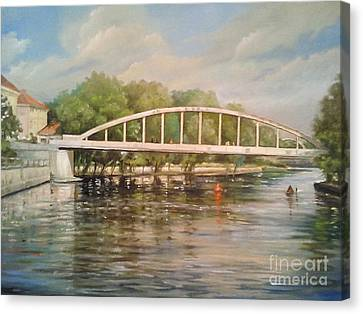 Architectur Canvas Print -  Tartu Arch Bridge by Ahto Laadoga