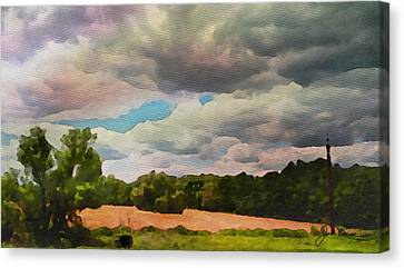 Canvas Print featuring the painting  Tennessee Landscape by Joan Reese