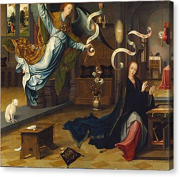 The Annunciation Canvas Print by Jan de Beer