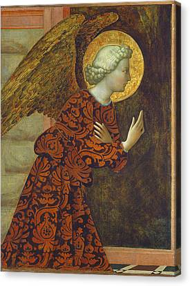 The Archangel Gabriel Canvas Print by Tommaso Masolino da Panicale