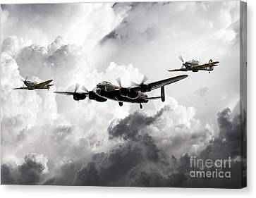 The Battle Of Britain Memorial Flight Canvas Print