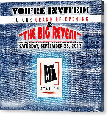 The Big Reveal Canvas Print