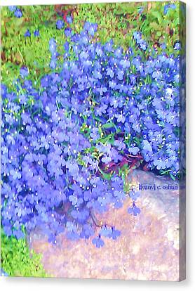 The Color Purple Revisited Canvas Print by Ifeanyi C Oshun