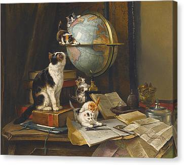 The Globetrotters Canvas Print by Henriette Ronner