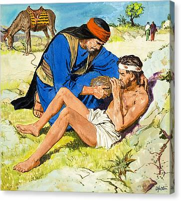 The Good Samaritan  Canvas Print by Clive Uptton