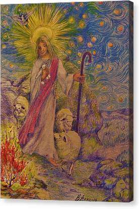The  Good  Shepherd Canvas Print by Beth Arroyo