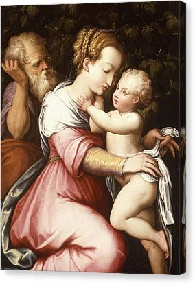 The Holy Family Canvas Print by Giorgio Vasari