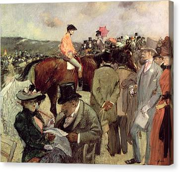 The Horse Race Canvas Print by Jean Louis Forain