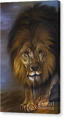 The Lion King Canvas Print by Andrzej Szczerski