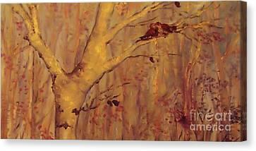 The  Loving  Birds Canvas Print