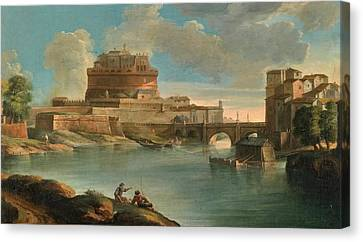 The Mill Is On The Left Bank Canvas Print