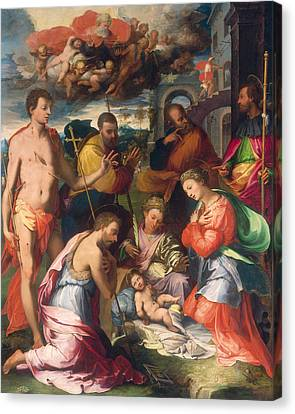 The Nativity Canvas Print by Perino del Vaga Pietro Buonaccorsi