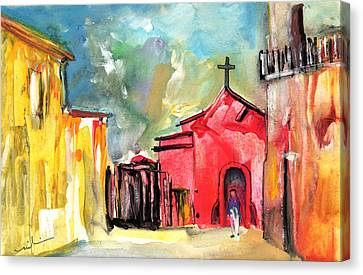 The Red Church In The South Of France Canvas Print