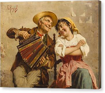 The Serenade Canvas Print by Eugenio Zampighi
