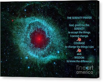 The Heavens Canvas Print -  The Serenity Prayer Helix Nebula. by Heinz G Mielke