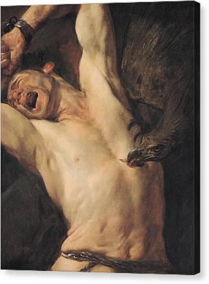 The Torture Of Prometheus Canvas Print by Giovacchino Assereto