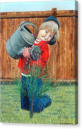 The Young Arborist Canvas Print by William Goldsmith