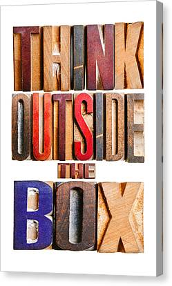 Think Outside The Box Canvas Print by Donald  Erickson