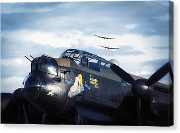 Three Lancasters Canvas Print