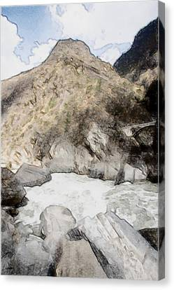 Deep River County Park Canvas Print -  Tiger Leaping Gorge In Lijiang by Lanjee Chee