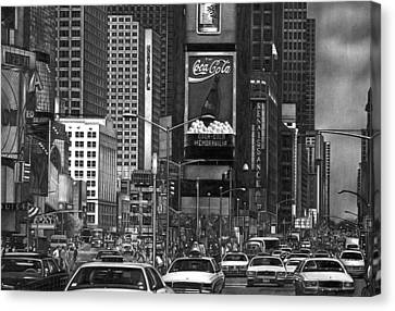 Times Square Canvas Print by Jerry Winick