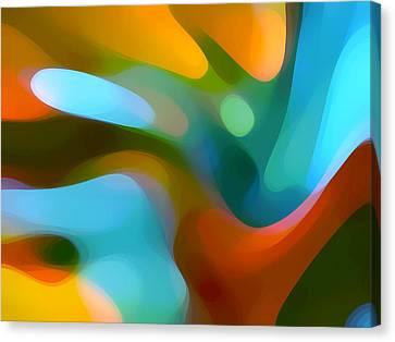Abstract Digital Canvas Print -  Tree Light 1 by Amy Vangsgard